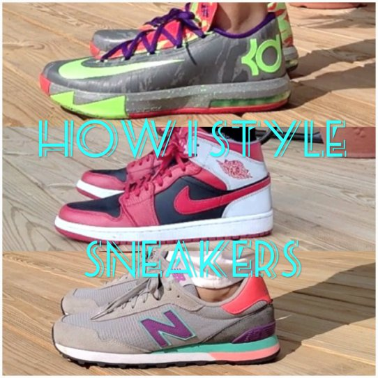 how i style sneakers